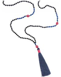 Tribe + Fable - Tribe + Fable Single Tassel Necklace - Lyst