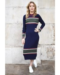 Just Female - Ebba Total Eclipse Knit Dress - Lyst