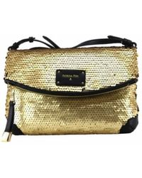 Patrizia Pepe - Cross Body Bag In Gold Sequins - Lyst