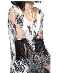 Patrizia Pepe - Lace Dress In White/black - Lyst