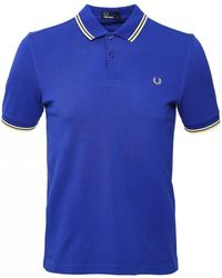 af6f0a64f Lyst - Fred Perry Twin Tipped Polo Shirt M3600 444 in Blue for Men
