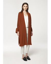Paisie - Oversized Wrap Coat With Pleated Waist Details - Lyst