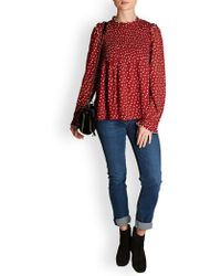 Leon & Harper - Clelia Spotted Blouse - Lyst