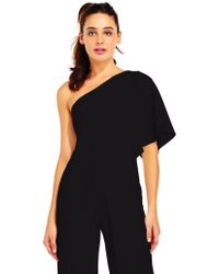Adrianna Papell - One Shoulder Jumpsuit In Navy - Lyst
