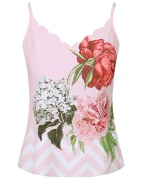 Ted Baker - Women's Sarai Palace Gardens Scalloped Cami Top - Lyst