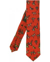 Ascot Accessories - Animal Patterned Wool Tie - Lyst