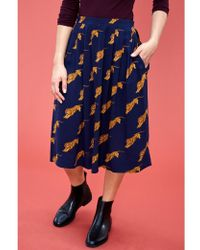 Atterley - Emily And Fin Faye Tigers Pleated Skirt - Lyst