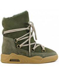 Serafini - Moon Zv Military Khaki Suede Boots - Lyst