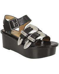 Toga Pulla - Sandal In Black Leather - Lyst