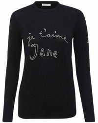Bella Freud - Je'taime Jane Jumper Black - Lyst