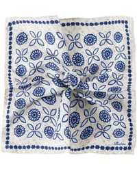 Stenstroms - Silk Patterned Pocket Square - Lyst