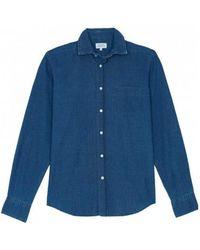 Hartford - Paul Shirt With Dots Fil-coupé - Lyst