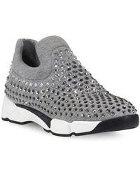 Lyst - Pinko Sneakers Gem Slip On Neoprene Con Strass f9bc9755432