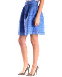 Pinko - Women's Viviano4f18 Blue Cotton Skirt - Lyst