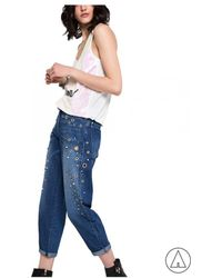 Patrizia Pepe - • Studed Jeans In Blue - Lyst
