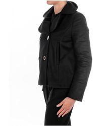 Manila Grace - Short Coat In Black - Lyst