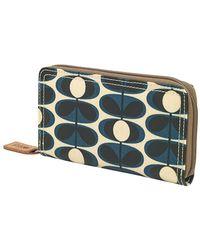 Orla Kiely - Women's Laminated Flower Oval Big Zip Wallet Purse - Lyst