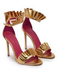 Oscar Tiye - Sandalwood Ruffles Gold - Lyst