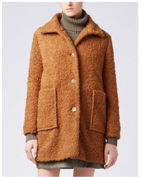 BOSS Orange - Hugo Boss Ochilly Teddy Coat - Lyst