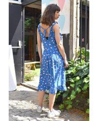 Custommade• - Naomie Palace Blue Dress - Lyst