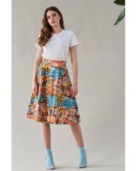Emily and Fin - Pippa Havana Print A Line Skirt - Lyst