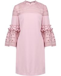 Ted Baker - Women's Lucila Lace Bell Sleeved Tunic Dress - Lyst