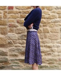 Atterley - Catherine Andre Dolores Skirt In Dotty Blue - Lyst