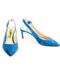 Rupert Sanderson - Diana 60 Blue Suede - Lyst