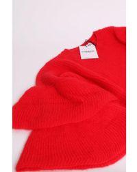 Essentiel - Antwerp Pickles Red Layered Sleeves Sweater - Lyst