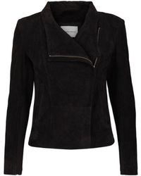 Second Female - Adelaide Suede Jacket Black - Lyst