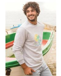Cuisse De Grenouille - Eloi Extra Light Grey Chine Sweater - Lyst