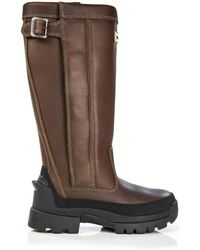 HUNTER - Women's Balmoral Leather Wellington Boots - Lyst
