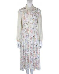 Bl-nk - Alba Long Shirt Dress In Ditsy Print - Lyst