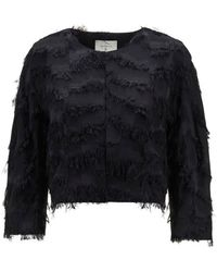 Beatrice B. - Fluffy Jacket Black - Lyst