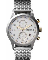 Triwa - Stirling Ivory Lansen Chrono Stainless Steel Watch - Lyst