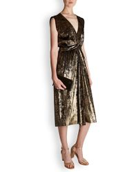 MASSCOB - Douglas Gold Velvet Dress - Lyst