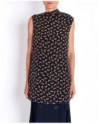 Marni - Long Sleeveless Printed Top - Lyst