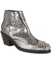 McQ - Boots Texan Silver - Lyst