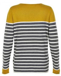 Part Two - Mosta Yellow Stripe Knit - Lyst