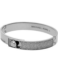 MICHAEL Michael Kors - Michael Kors Silver Brilliance Bangle Bracelet - Lyst