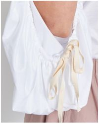 Erika Cavallini Semi Couture - Sophie Blouse With Wrinkled Sleeves - Lyst