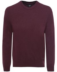 BOSS Orange - Wool Blend Akroeged Jumper - Lyst