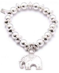 ChloBo - Medium Ball Bracelet With Elephant Charm - Lyst
