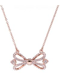 Ted Baker - Women's Haven Ornate Bow Pendant Necklace - Lyst