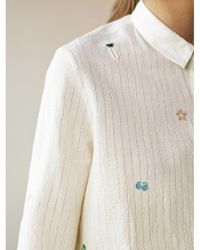 INTROPIA - Lurex And Mini-embroideries Striped Shirt - Lyst