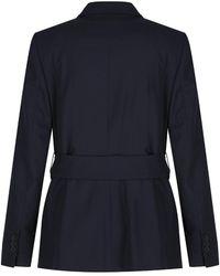 Aquascutum - Women's Carman Flannel Blazer With Club Check Trim - Lyst
