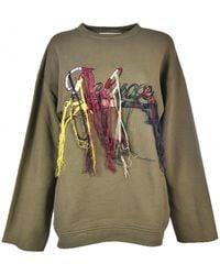 Golden Goose Deluxe Brand - Embroidered Deluxe Sweatshirt In Green - Lyst