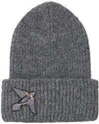 Becksöndergaard - Jadie Bird Hat In Grey Melange - Lyst