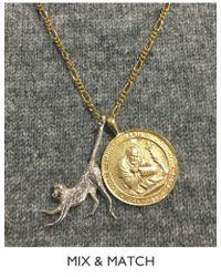 Anna + Nina - Monkey Necklace Charm - Lyst