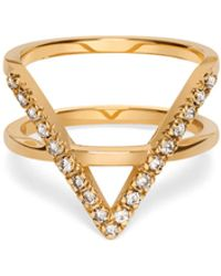 AUrate New York | Icon Ring Yellow Gold With White Diamonds | Lyst